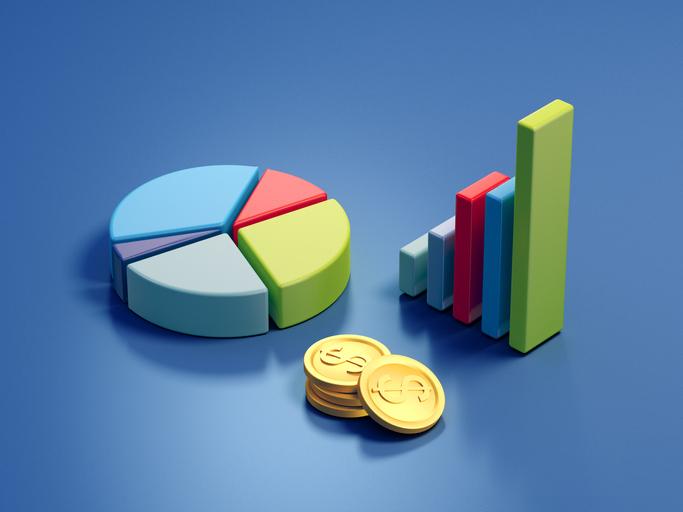 Stock graphs 3d illustration